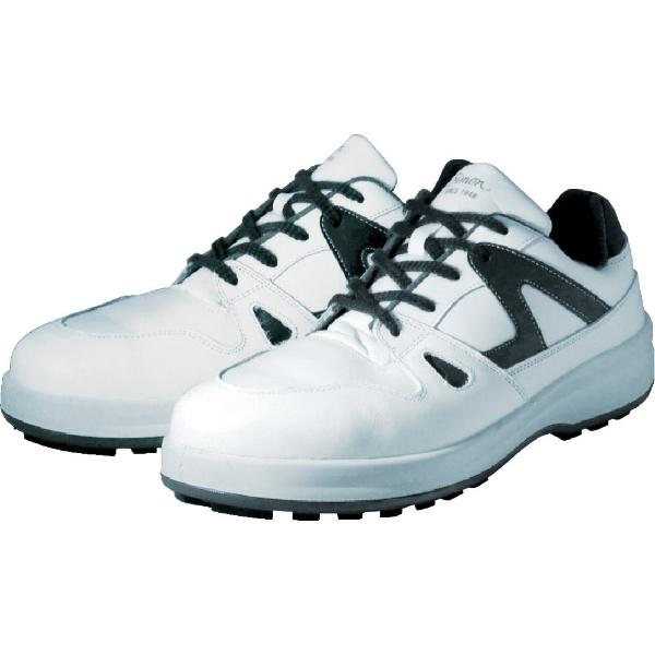 【送料無料】 シモン 安全靴 短靴 8611白/ブルー 24.0cm 8611WB24.0
