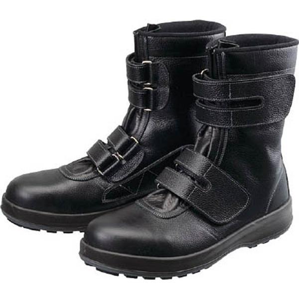 【送料無料】 シモン 安全靴 長編上靴 マジック WS38黒 26.0cm WS3826.0
