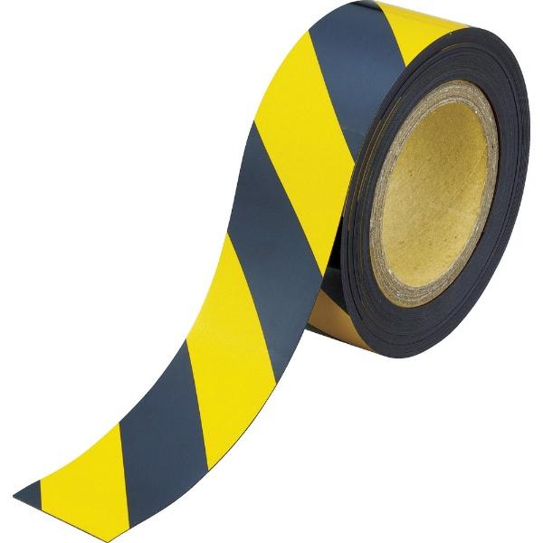 【送料無料】 トラスコ中山 マグネット反射シート 黄・黒 180mm×10m TMGH1810BY