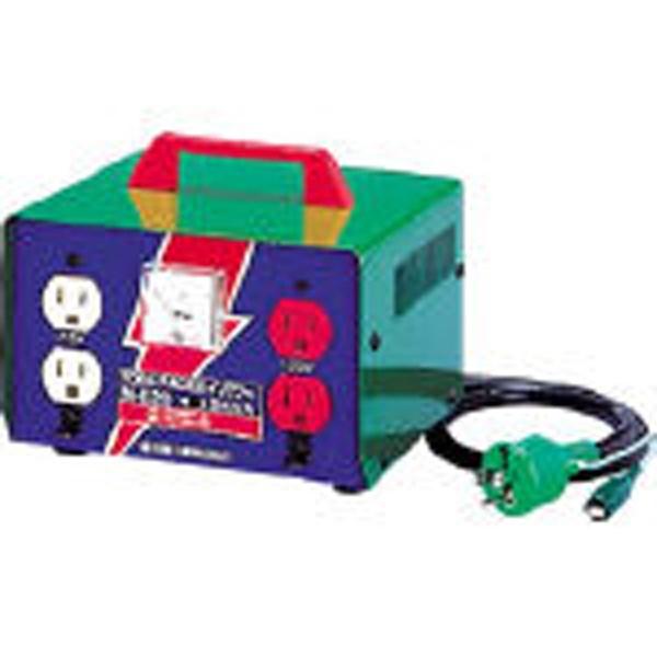 【送料無料】 日動工業 変圧器 昇圧器ハイパワー 2KVA アース付タイプ ME20