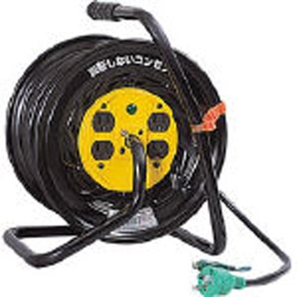【送料無料】 日動工業 電工ドラム マジックリール 100V アース付 30m ZE34