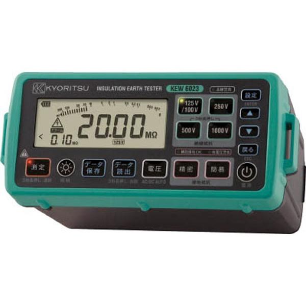 【送料無料】 共立電気計器 デジタル絶縁・接地抵抗計(メモリ機能付モデル) KEW6023