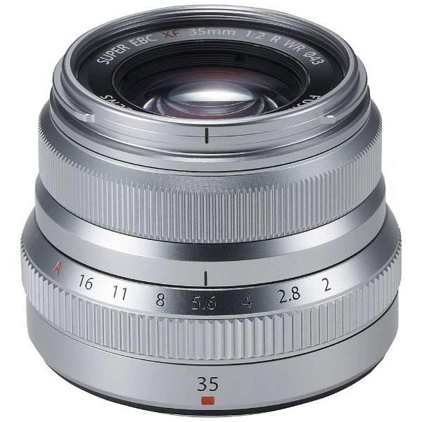 【送料無料】 富士フイルム FUJIFILM カメラレンズ XF35mmF2 R WR【FUJIFILM Xマウント】(シルバー)[FXF35MMF2RWRS]