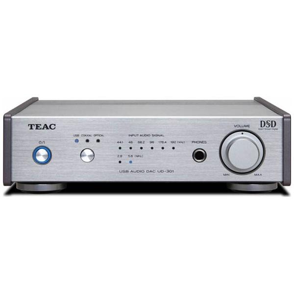 【送料無料】 TEAC 【ハイレゾ音源対応】ヘッドホンアンプ DAC付(シルバー) UD-301 SPS[UD301SPS]