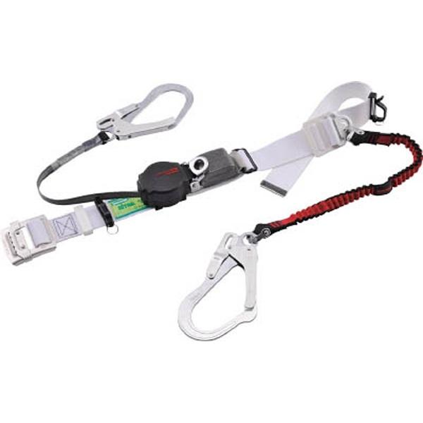 【送料無料】 藤井電工 ツヨロン なでしこツイン安全帯 ワンハンドリトラ・ノビロン 赤色 S寸 ORL-2-93-NVRE-R-S-BP