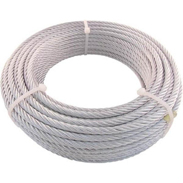 【送料無料】 トラスコ中山 TRUSCO JIS規格品メッキ付ワイヤロープ (6X24)Φ12mmX30m JWM-12S30