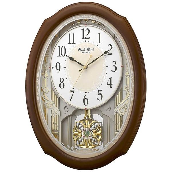 【送料無料】 リズム時計 電波からくり時計 「スモールワールドセレブレ」 4MN541RH06