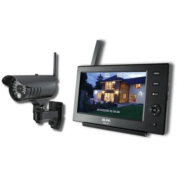 【送料無料】 ELPA(エルパ) ワイヤレスカメラ&モニターセット CMS-7110