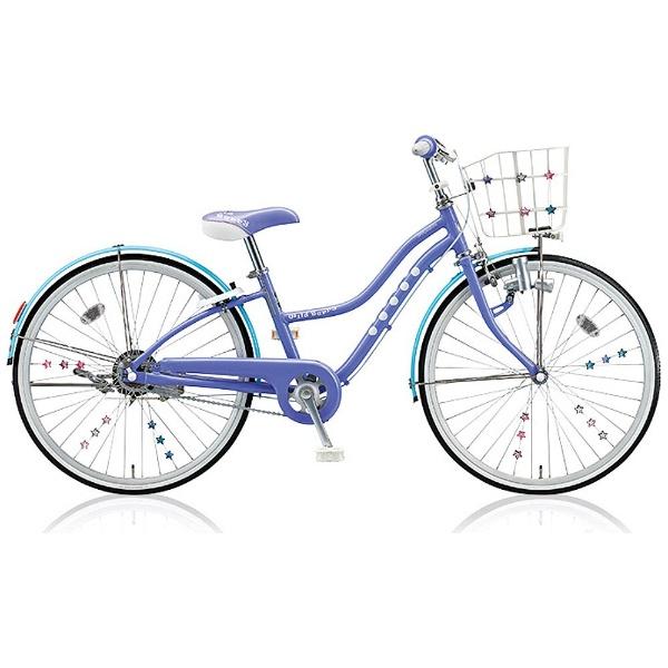 【送料無料】 ブリヂストン 24型 子供用自転車 ワイルドベリー(ブルーベリー/シングルシフト) WB406【組立商品につき返品不可】 【代金引換配送不可】