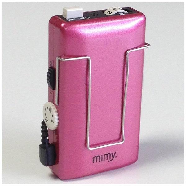 【送料無料】 ミミー電子 【アナログ補聴器】ミミー ME-142(ポケット型/メタリックピンク)