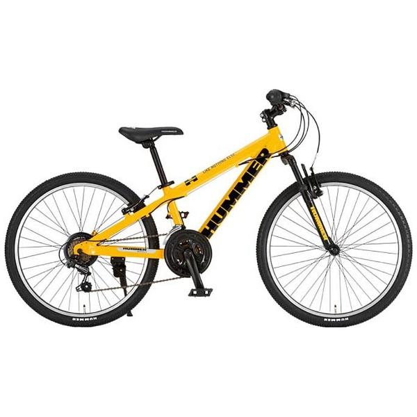 【送料無料】 ハマー 24型 子供用自転車 HUMMER Jr.ATB 2418-SV(イエロー/18段変速) JR.ATB2418-SV【組立商品につき返品不可】 【代金引換配送不可】
