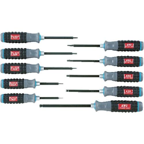 【送料無料】 京都機械工具(KTC) 樹脂柄ボールポイントヘキサゴンドライバセット[10本組] TD1HBP10B