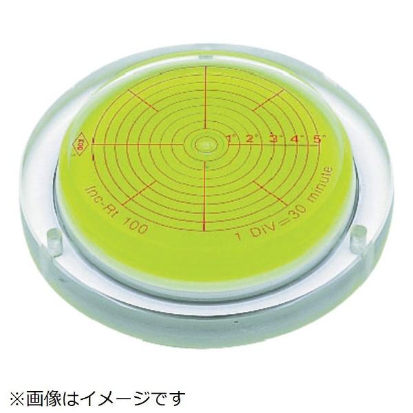 【送料無料】 アカツキ製作所 取付穴付角度計付丸台型アイベル水平器 INCRT150《※画像はイメージです。実際の商品とは異なります》