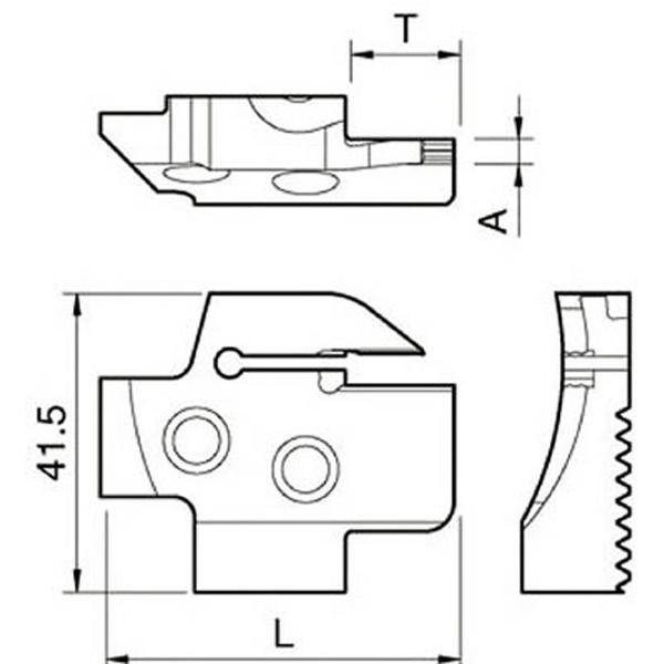 【送料無料】 京セラ 京セラ 溝入れ用ホルダ KGDFR-25-4A-C