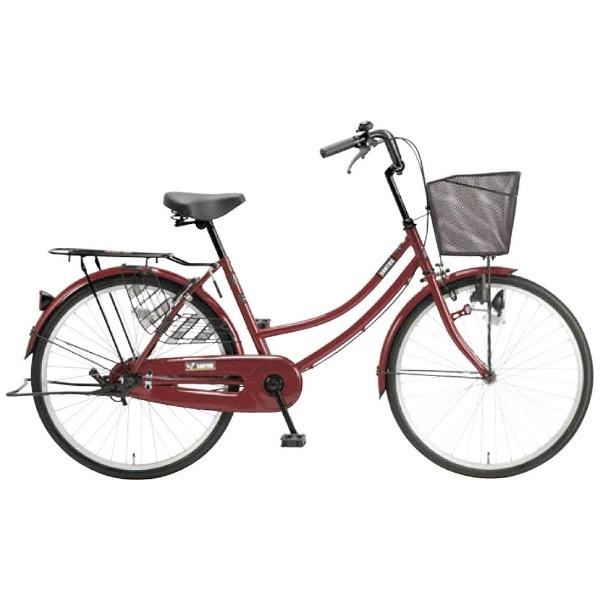 【送料無料】 アサヒサイクル 24型 自転車 サントス24(マルーン/シングルシフト) TB4TD【組立商品につき返品不可】 【代金引換配送不可】【メーカー直送・代金引換不可・時間指定・返品不可】