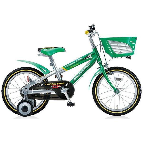 【送料無料】 ブリヂストン 18型 幼児用自転車 クロスファイヤーキッズ(グリーン&シルバー/シングルシフト) CK186【組立商品につき返品不可】 【代金引換配送不可】