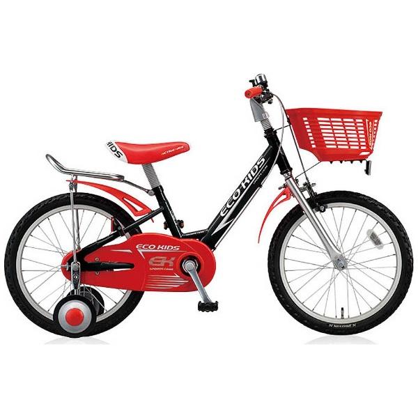 【送料無料】 ブリヂストン 14型 幼児用自転車 エコキッズスポーツ(ブラック&レッド/シングルシフト) EK14S6【組立商品につき返品不可】 【代金引換配送不可】