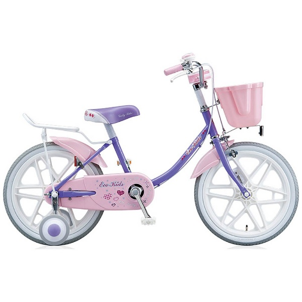 【送料無料】 ブリヂストン 16型 幼児用自転車 エコキッズカラフル(ラベンダー&ピンク/シングルシフト) EK16C6【組立商品につき返品不可】 【代金引換配送不可】