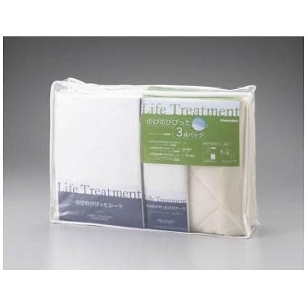 【送料無料】 フランスベッド 【カバー3点セット】リクライニング対応 のびのびぴった3点パック ホワイト セミダブルサイズ(122×195cm)