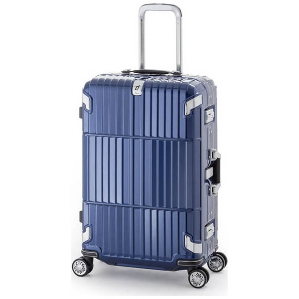 【送料無料】 A.L.I TSAロック搭載スーツケース departure(60L) HD-505-27 シャインニングネイビー