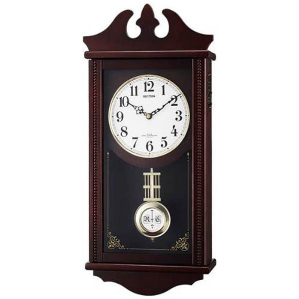 【送料無料】 リズム時計 RHYTHM 電波からくり時計 「ペデルセンR」 4MNA03RH06