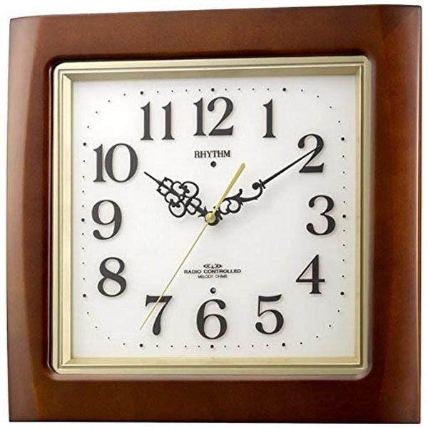 【送料無料】 リズム時計 電波掛け時計 「ネムリーナM468R」 4MN468RH06