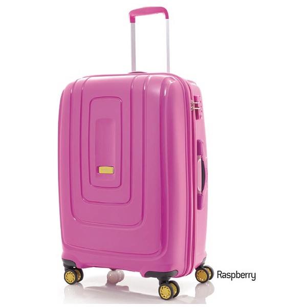 【送料無料】 アメリカンツーリスター TSAロック搭載スーツケース「Lightrax」 Mサイズ(68L)ラズベリー【ビックカメラグループ独占販売】【point10】
