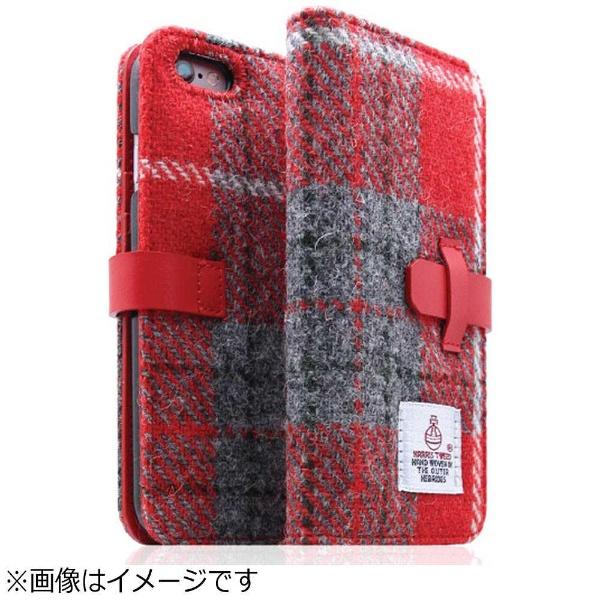 【送料無料】 ROA iPhone 6s Plus/6 Plus用 手帳型 Harris Tweed Diary レッドxグレー SLG Design SD7294i6SP