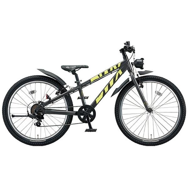 【送料無料】 ブリヂストン 24型 子供用自転車 BWX STREET Mサイズ(ガンメタリック×イエロー/7段変速) BXS476【組立商品につき返品不可】 【代金引換配送不可】