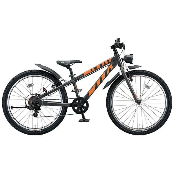 【送料無料】 ブリヂストン 24型 子供用自転車 BWX STREET Mサイズ(ガンメタリック×オレンジ/7段変速) BXS476【組立商品につき返品不可】 【代金引換配送不可】