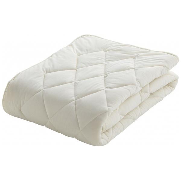 【送料無料】 フランスベッド 【ベッドパッド】クランフォレスト羊毛ベッドパッド(クィーンサイズ/170×195cm/キナリ)