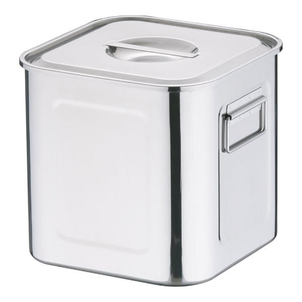 【送料無料】 三宝産業 18-8深型角キッチンポット (手付)22.5cm <AKK06022>