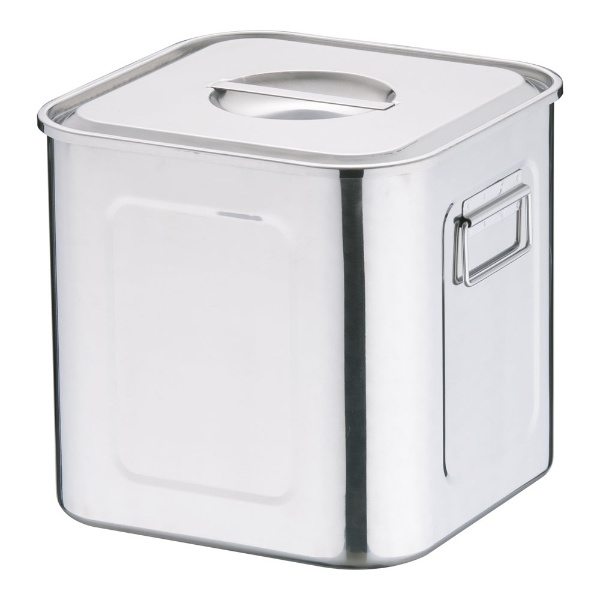 【送料無料】 三宝産業 18-8深型角キッチンポット (手付)25.5cm <AKK06025>