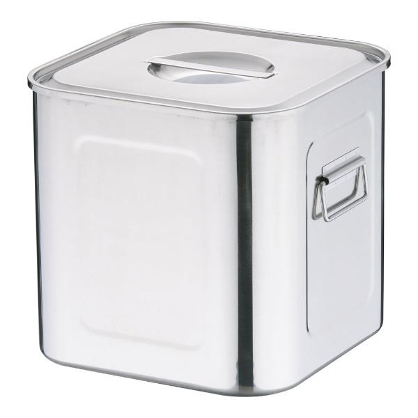 【送料無料】 三宝産業 18-8深型角キッチンポット (手付)28.5cm <AKK06028>