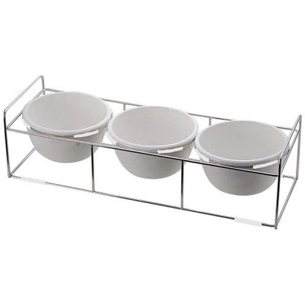 【送料無料】 ミヤザキ食器 ワイヤースタンドセット陶器28cmボール付 BQ9909-2813(WH) <NWI1301>