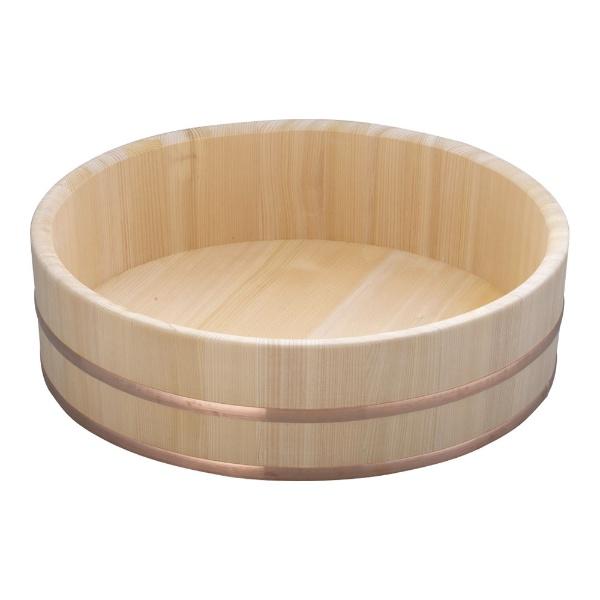 【送料無料】 雅うるし工芸 木製銅箍 飯台(サワラ材) 54cm <BHV01054>