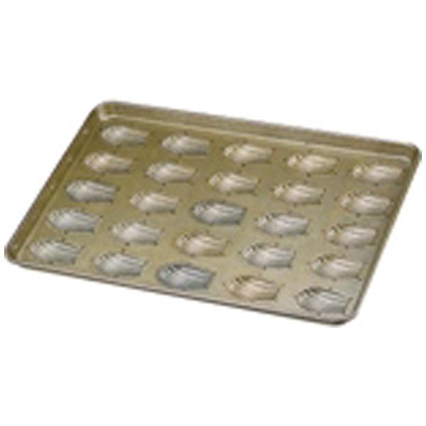 【送料無料】 千代田金属工業 シリコン加工 貝型マドレーヌ型天板 (25ヶ取) <WTV16>
