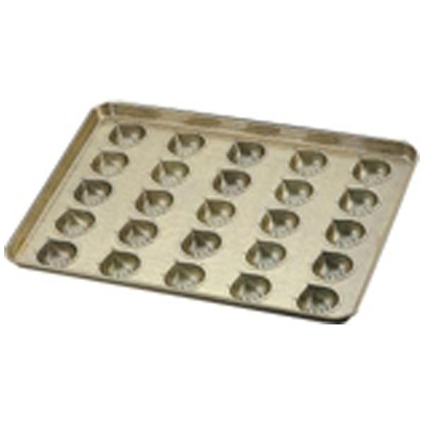 【送料無料】 千代田金属工業 シリコン加工 マロンケーキ型天板 (25ヶ取) <WTV41>