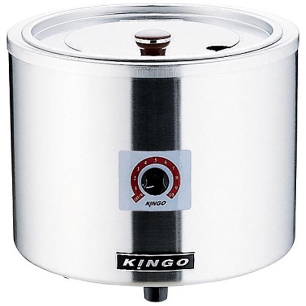 【送料無料】 遠藤商事 KINGO 湯煎式電気スープジャー D9001(中鍋なし) <DSC2501>