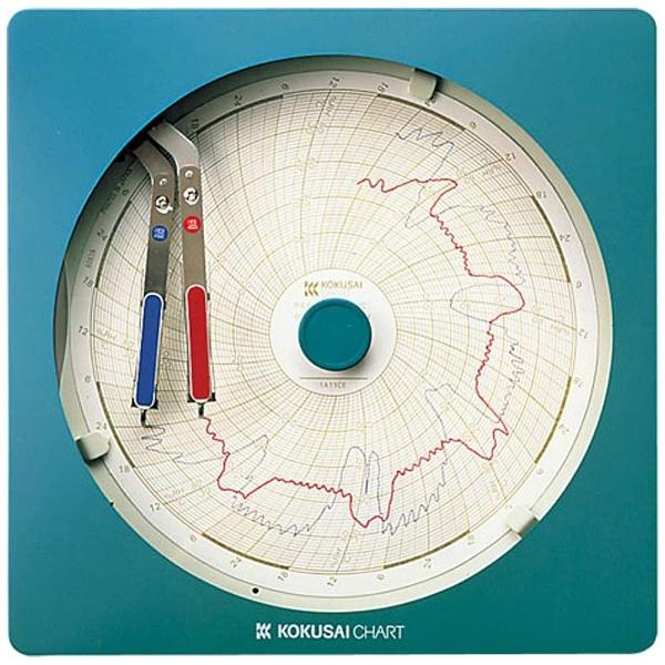 【送料無料】 国際チャート 温湿度記録計 温湿きろく君 KC10-WD 1日用 <BOV981>