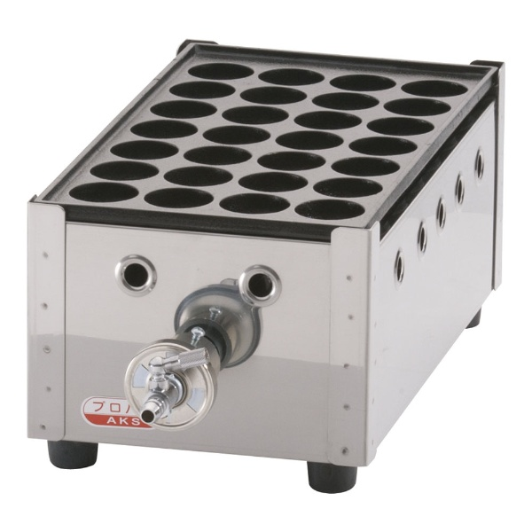 【送料無料】 荒木金属製作所 関西式たこ焼器(28穴) 1枚掛 LPガス <GTK231>
