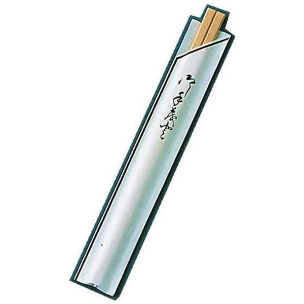 【送料無料】 ツボイ 割箸袋入 茶線 白樺元禄 20.5cm (1ケース100膳×40入) <XHSA0>