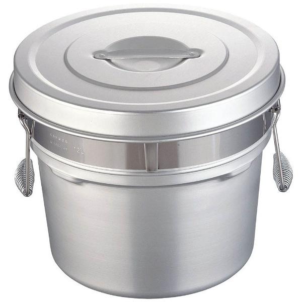 【送料無料】 オオイ金属 アルマイト段付二重食缶 248R (12l) <ASY74248>