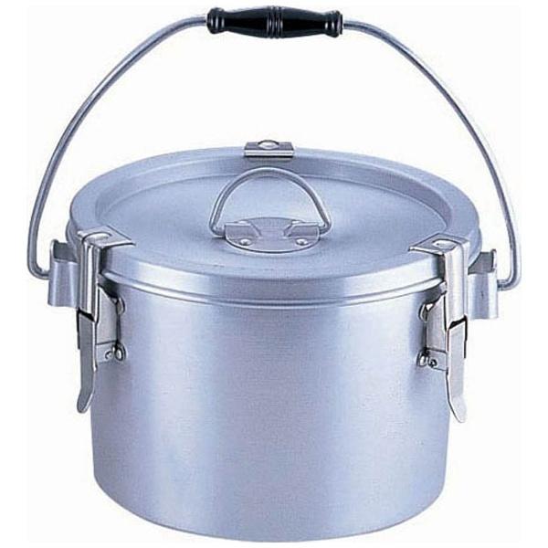 【送料無料】 オオイ金属 シルバーアルマイト丸型二重クリップ付食缶 237-H (4l) <ASYA101>