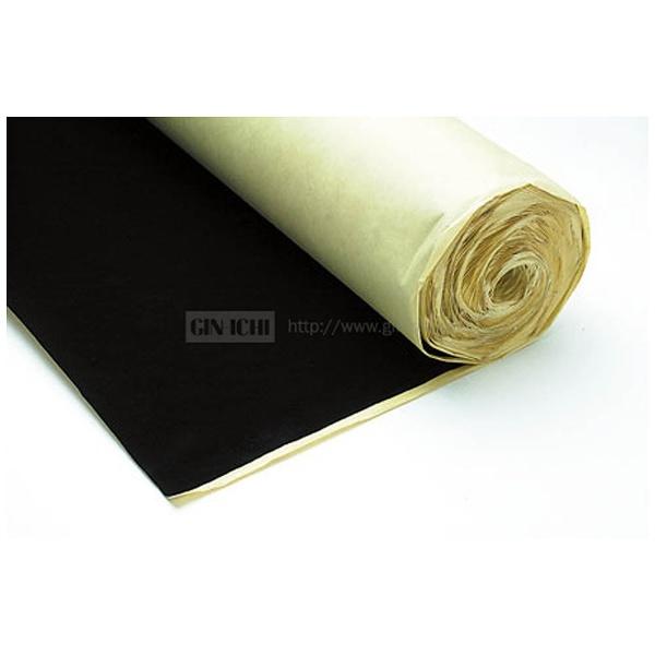 【送料無料】 銀一 ウールペーパーNo.117(ブラック) 1.07×20m