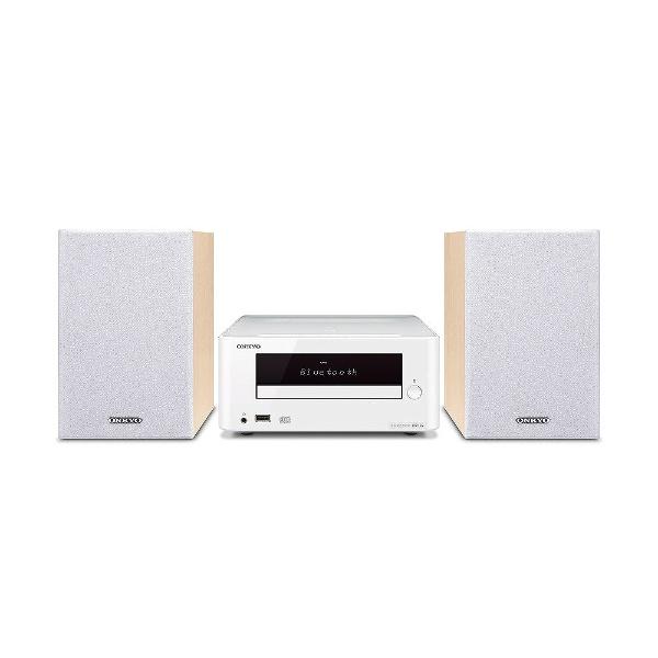 【送料無料】 オンキヨー ONKYO 【ワイドFM対応】ブルートゥース対応 CDミニコンポーネントシステム(ホワイト) X-U6(W)