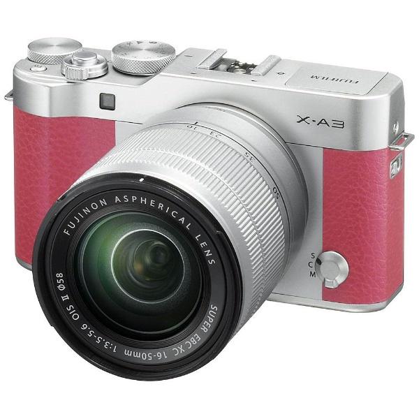 【送料無料】 フジフイルム FUJIFILM FUJIFILM X-A3【レンズキット】(ピンク/ミラーレス一眼カメラ)[FXA3LKXCP][c-ksale]