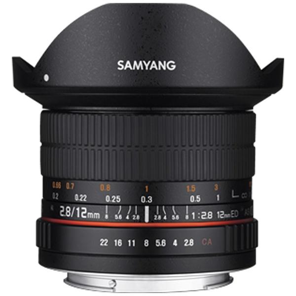 【送料無料】 SAMYANG カメラレンズ 12mm F2.8 ED AS NCS Fisheye【キヤノンEF-Mマウント】[12MMF28キヤノンMFISHEYE]