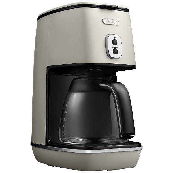 【送料無料】 デロンギ ドリップコーヒーメーカー 「ディスティンタコレクション」(6杯分) ICMI011J-W ピュアホワイト[ICMI011J]