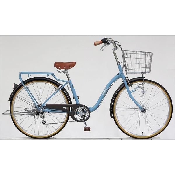 【送料無料】 アサヒサイクル 26型 自転車 スプラウト266(マットブルーグレー/6段変速) FD66LG【組立商品につき返品不可】 【代金引換配送不可】【メーカー直送・代金引換不可・時間指定・返品不可】